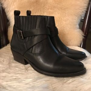 All Saints black leather Chelsea boots